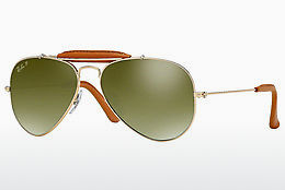 Nuċċali tax-xemx Ray-Ban AVIATOR CRAFT (RB3422Q 001/M9) - Dehbi, Kannella