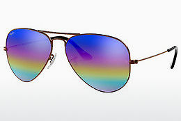 Nuċċali tax-xemx Ray-Ban AVIATOR LARGE METAL (RB3025 9019C2) - Griż, Kannella